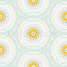 Bohemian Pattern Best Vector Tribal Colorful Bohemian Pattern With Big Abstract Flowers In