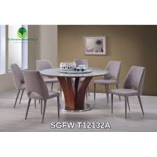 dining table 1 4m round glass 1 5 sgfw t12132a