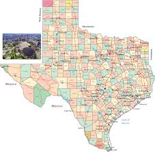 political map of texas  state of the usa