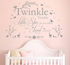 >twinkle twinkle little star quote vinyl wall art sticker mural  twinkle twinkle little star quote vinyl wall art sticker mural decal home