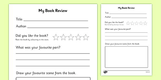 Book Report Template Book Review Printable Printable Book Review Book Review Book