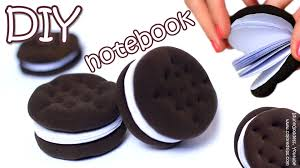 how to make oreo notebook diy chocolate sandwich cookies notebook tutorial you