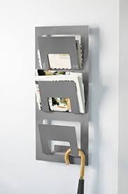 newspaper rack for office. Wall Mounted Newspaper Rack, Silver-colour Rack For Office