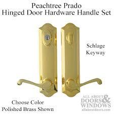 Peachtree Prado Hinged Door Hardware Handle Set Schlage Keyway