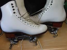 Women Harlick Roller Skates With Atlas Plates Size 10 5 Heel