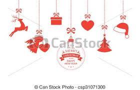 hanging christmas ornaments vector.  Vector Set Of Hanging Christmas Ornaments  Csp31071300 On Hanging Ornaments Vector