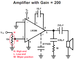 lm386 based stereo audio amplifier digital volume control lm386 audio amplifier circuit
