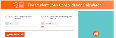 Multiple Student Loan Calculator Student Loan Consolidation Nitro