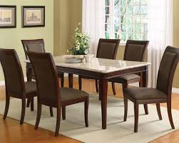 excellent marble top dining room sets acme set w white table britney ac70060a set with faux