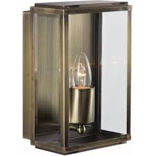 8204ab outdoor lighting 1 light modern outdoor wall light antique brass finish with glass ip44 rated