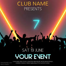 Party Template Club Event Party Video Template Postermywall