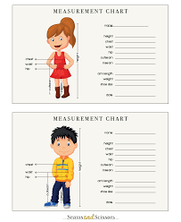 How To Take Body Measurements Free Printable Size Chart Seams