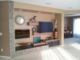 a wall w electric fireplace modern living room