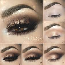 gold smokey eye eyeshadow for brown eyes makeup tutorials guide