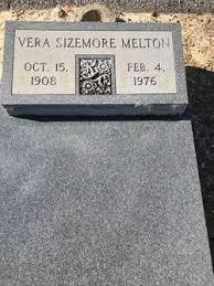 Vera Sizemore Melton (1908-1976) - Find A Grave Memorial
