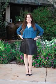 faux leather pleated mini skirt
