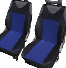 2 blue front seat covers with bars for vw golf mk5