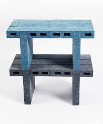 recycled paper furniture. woojai lee transforms recycled paper into bricklike furniture e