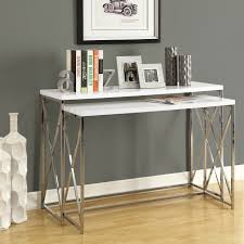 Monarch Specialties I 3027 Two Piece Nesting Console Table Set - Home  Furniture Showroom