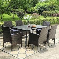 phi villa 7 piece patio dining sets