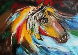 details about painting abstract horse by leon contemporary artist original large painting