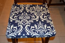 full size of pretty chair cushion navy blue with cream twill fabric replacement memory foam seat