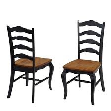 black wood dining chair. Home Styles French Countryside Rubbed Black Oak Dining Chair (Set Of 2) Wood H
