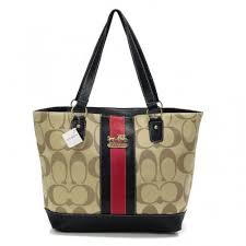 Coach Legacy Logo In Monogram Medium Khaki Totes BPU