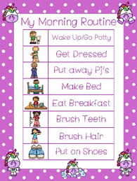 Daily Routine Chart 4 Unicorn Themed Daily Routine Charts Preschool 3rd Grade Routine Activity