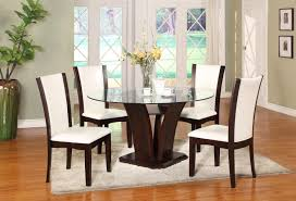 round espresso dining table new cm camelia espresso 5 piece round table and chair set