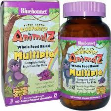 Bluebonnet Nutrition Children's Multivitamin <b>Rainforest Animalz</b>