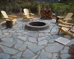 flagstone landscaping.  Landscaping Flagstone Firepit DIY Landscaping Project On