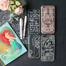 diy hand lettering on cell phone case