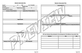 behavior intervention plan template behavior intervention plan template pdf editable by the math magazine
