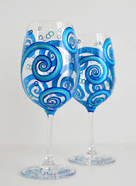 view in gallery blue swirling painted gl