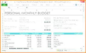 Personal Monthly Budget Spreadsheet Free Personal Monthly Budget Excel Template Definition C Updrill Co