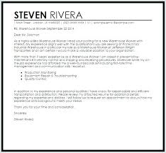 Cover Letter For A Warehouse Position Objective For Resume Warehouse