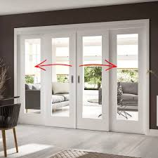 easi slide op1 white shaker 1 pane sliding door system in four size widths with clear glass