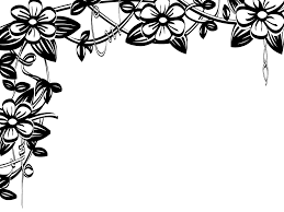 Border Black And White Clip Art Black And White Flower Border Clip Art