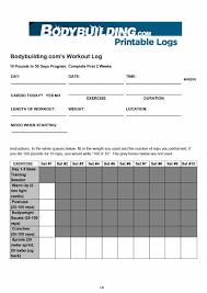 free workout template 17