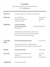 Sample Student Resume Format Student Resume Templates High School