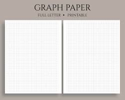 Printable Graph Paper Full Page 1 Inch