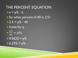 5 the percent equation