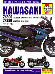 kawasaki ninja zx600 zx750r repair manual 1985 1997 haynes 1780 kawasaki ninja zx600 zx750r repair manual 1985 1997