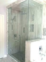 Walk in shower with half wall Pony Wall Contemporary Pony Wall Shower Glass Bathrooms Walk In Shower Half Wall No Glass Peterblanco Contemporary Pony Wall Shower Glass Bathrooms Walk In Shower Half
