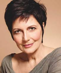 short brown pixie hairstyle for women over 60