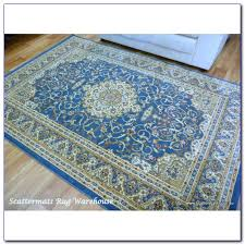 round blue rug australia