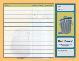 Chore Charts Allowance Kid Pointz