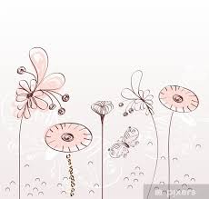 Flowers Fantasy Cute Background For Your Text Wall Mural Vinyl