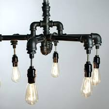 edison bulb chandelier a hand crafted 6 bulbs industrial lighting made to order from hanging edison bulb chandelier